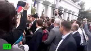 Как Крымчане встречают Путина в Крыму Видео с места событий