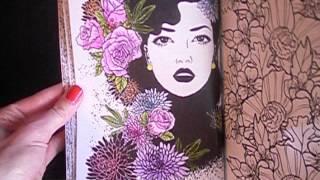 Раскраска для взрослых Цветы