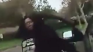 Violent Road Rage: Woman Assaults Driver With Cane [CAUGHT ON TAPE]