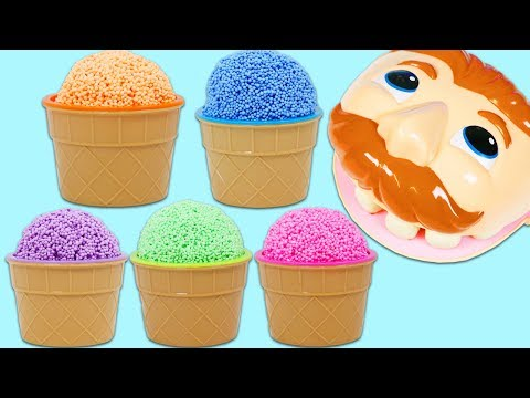 Play Foam Surprise Cups Opening with Mr. Play Doh Head!