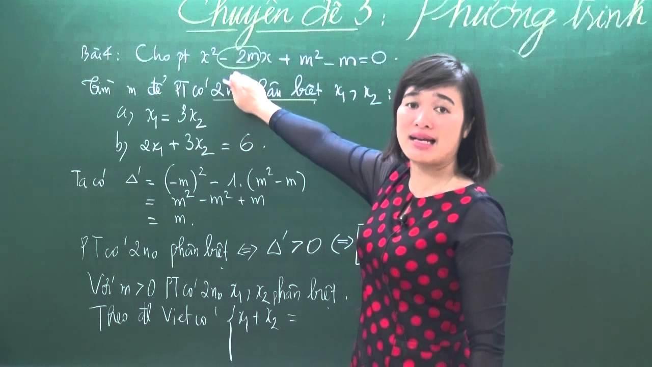 Hệ thức Viet và ứng dụng- Luyện thi toán vào 10 – Cô Trần Mai Phương – HOCMAI