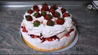 Торт Павлова, волшебный вкус, простой рецепт