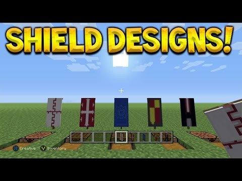 5 Custom Shield Style Designs Banners Tutorial Minecraft Console Edition Youtube