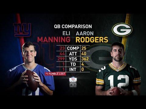 NFL Monday QB: Eli Manning vs. Aaron Rodgers