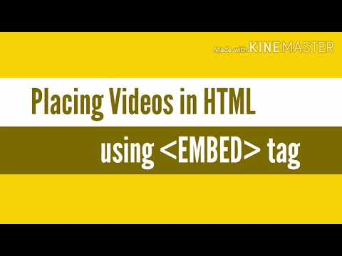 Placing Videos On HTML Webpage