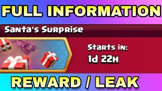 CLASH OF CLANS UPCOMING CHRISTMAS EVENT ( SANTA'S SURPRISE ) FULL INFORMATION
