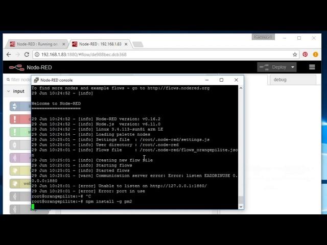 Install Node-RED on Orange Pi running Armbian, auto start