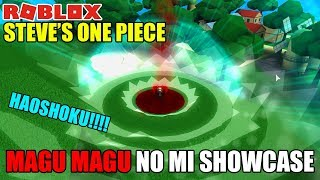 Roblox Steve's One Piece Magu Magu No Mi Showcase