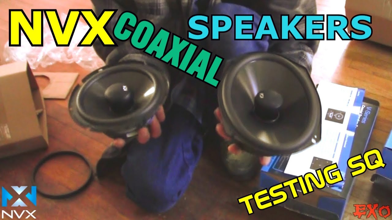 NVX 2-way Coaxial Speakers | VSP69 & VSP65 Testing w/ RCA Wires ...