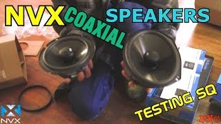 NVX 2-way Coaxial Speakers | VSP69 & VSP65 Testing w/ RCA Wires & Car Audio Line Output Converter