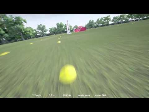 49.66 Second Three Lap Run Drone Simulation Formula FPV