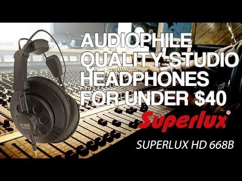 Best Studio Headphones Under $40 or $50 - Superlux HD 668B Review