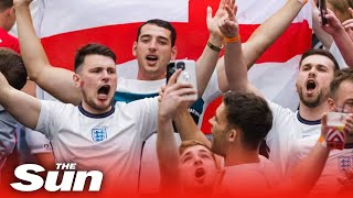 Euro 2020: Fans arrive at Wembley Stadium for England v Denmark semi-final