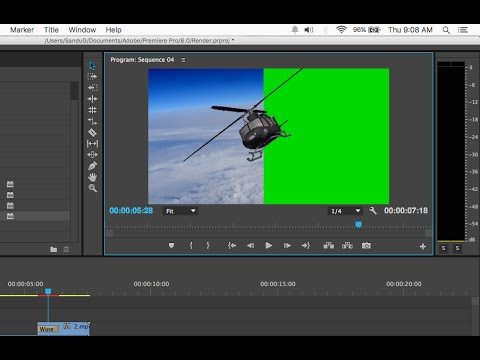 Keying and Compositing Green Screen Footage in Adobe Premiere Pro CS6