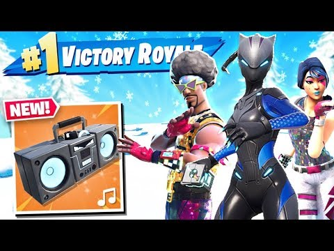 NEW BOOM BOX ITEM in Fortnite Battle Royale!