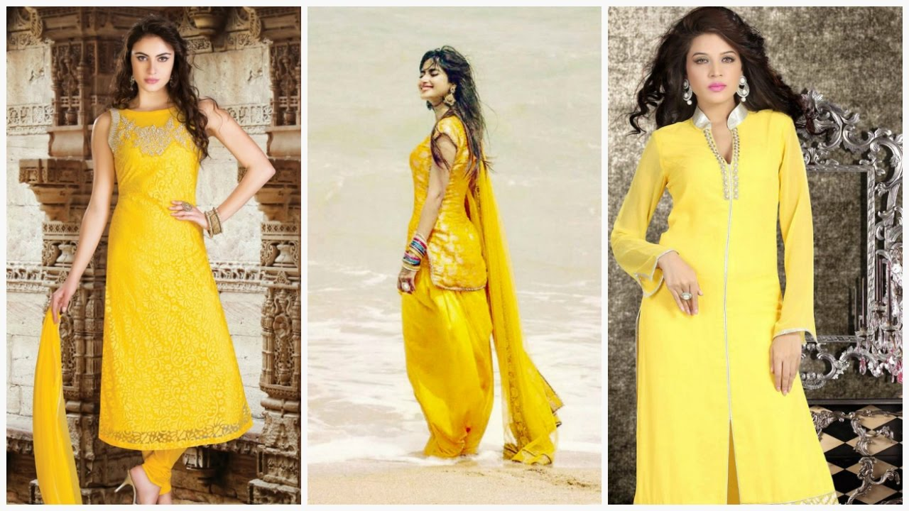 07735c9249 18 Yellow Salwar Suits For Summer 2017 - YouTube