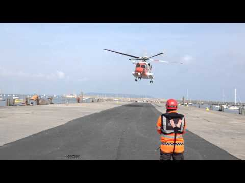 Irish Coast Guard rescue 116 landing in Dun laoghaire
