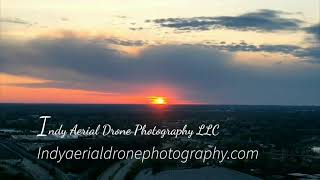 Indianapolis at night. Aerial Photos  and video clips of a lovely spring night in Indy.