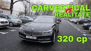 Second hand: BMW 740 LD.  PLUS: CarVertical vs Realitate.
