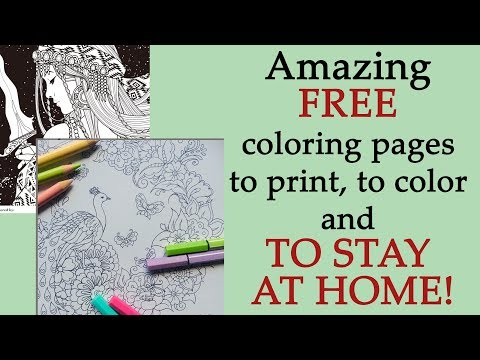Amazing FREE Coloring Pages To Print, To Color And To #STAYATHOME