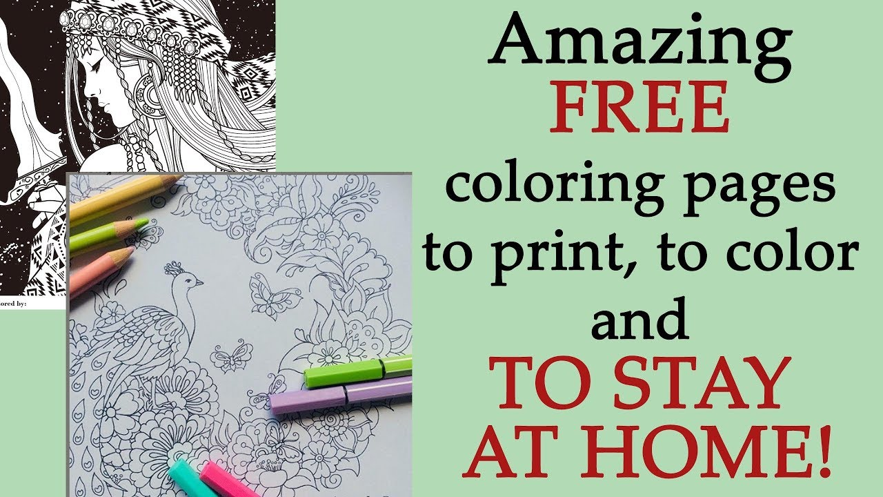 Stay Home & Color: A collection of free coloring pages to help you ... | 720x1280