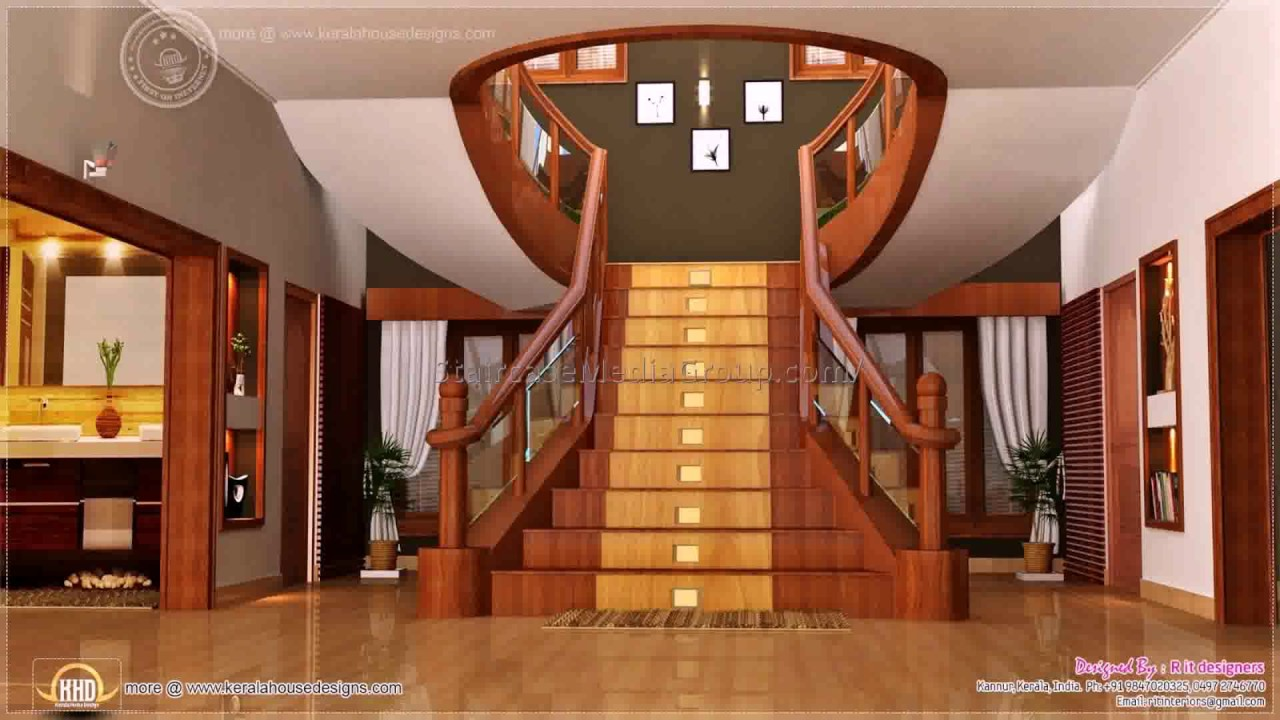 House Interior Design Pictures Kerala Stairs Youtube