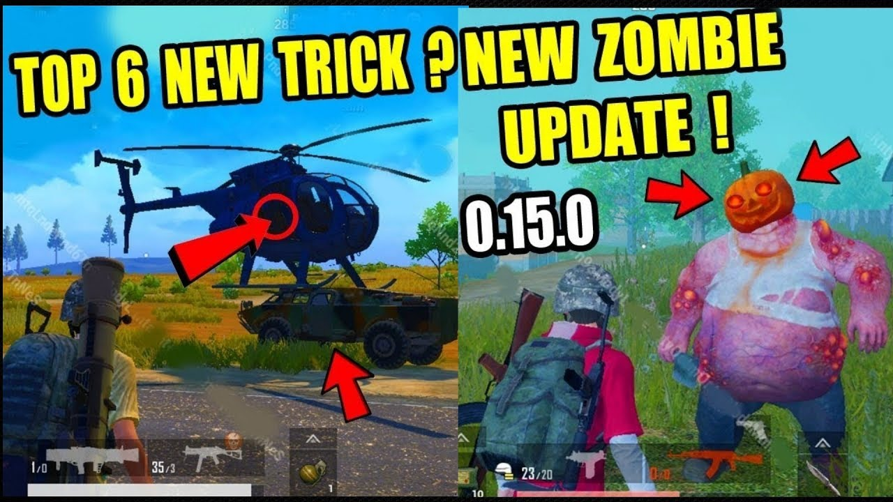 PUBG MOBILE NEW TRICK NEW UPDATE 0.15.0 CONFIRM TOP 6 NEW TIPS AND TRICKS