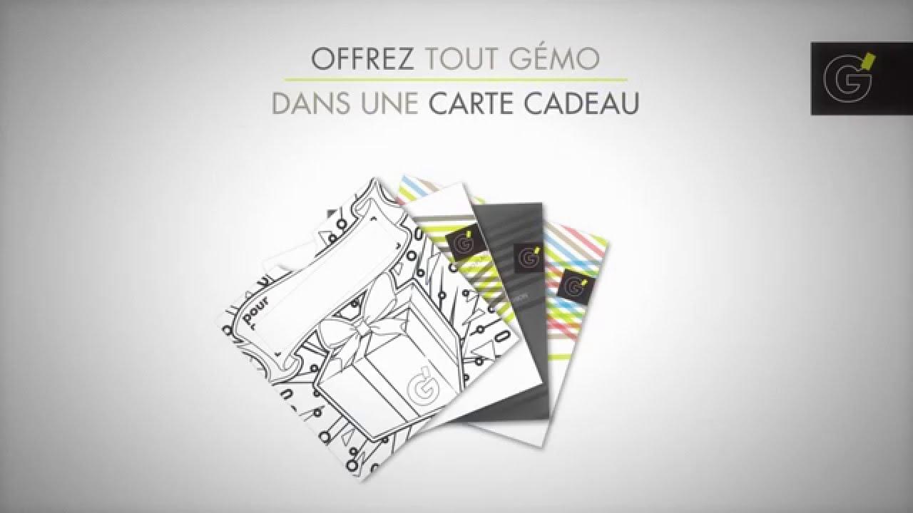 gemo fr activation carte Carte Cadeau Gémo   YouTube