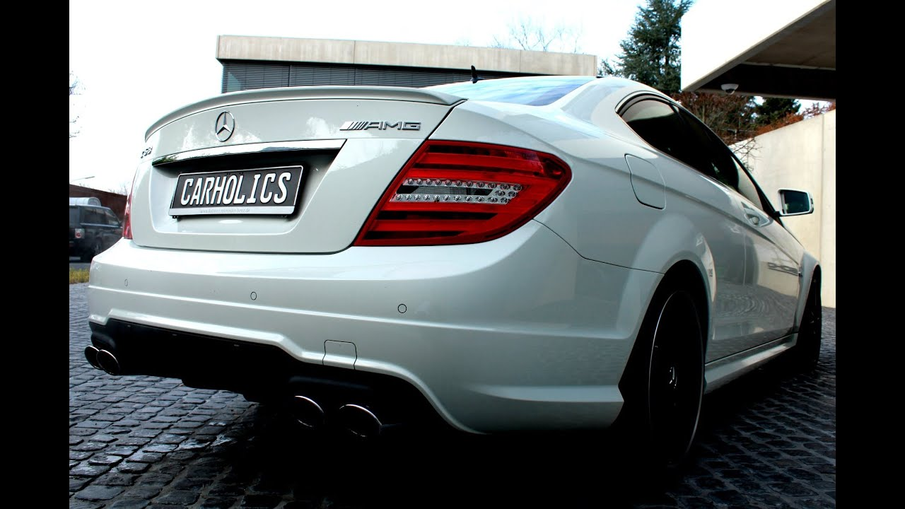 Mercedes benz c63 amg coupe brutal v8 exhaust and very for Mercedes benz v8 amg