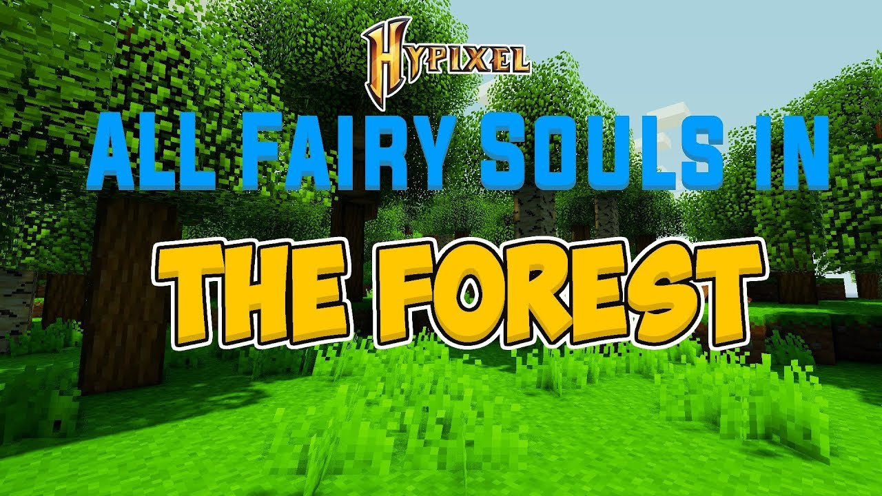 ALL 10 Fairy Souls in the Forest (Hypixel Skyblock)