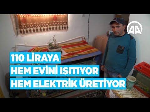 Baixar 110 liraya hem evini ısıtıyor hem elektrik üretiyor