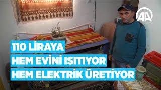 110 liraya hem evini ısıtıyor hem elektrik üretiyor