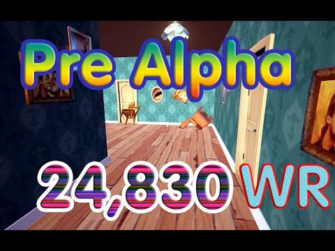 Hello Neighbor Pre Alphafor speedrun 24,830 WR (Mega style)