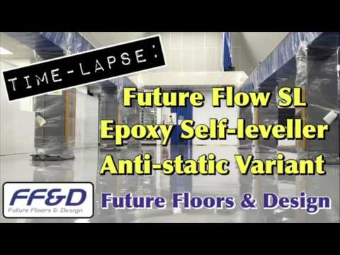 Epoxy Resin Self-Leveller (Time-Lapse) | Future Flow Anti-Static SL (Hard-Wearing Epoxy Screed)