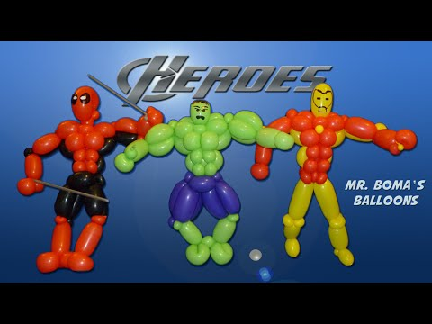 Advanced Super Hero Balloon Animal Tutorial (Balloon Twisting and Modeling #19)