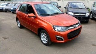 2013 Lada Kalina 2. Start Up, Engine, and In Depth Tour.