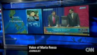 Philippine President Proclamation 2010 (CNN & ANC News Coverage)