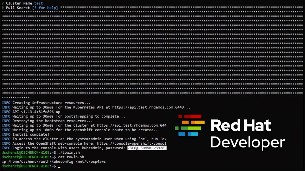 Red Hat OpenShift 4 0 Developer Preview on AWS: Up and