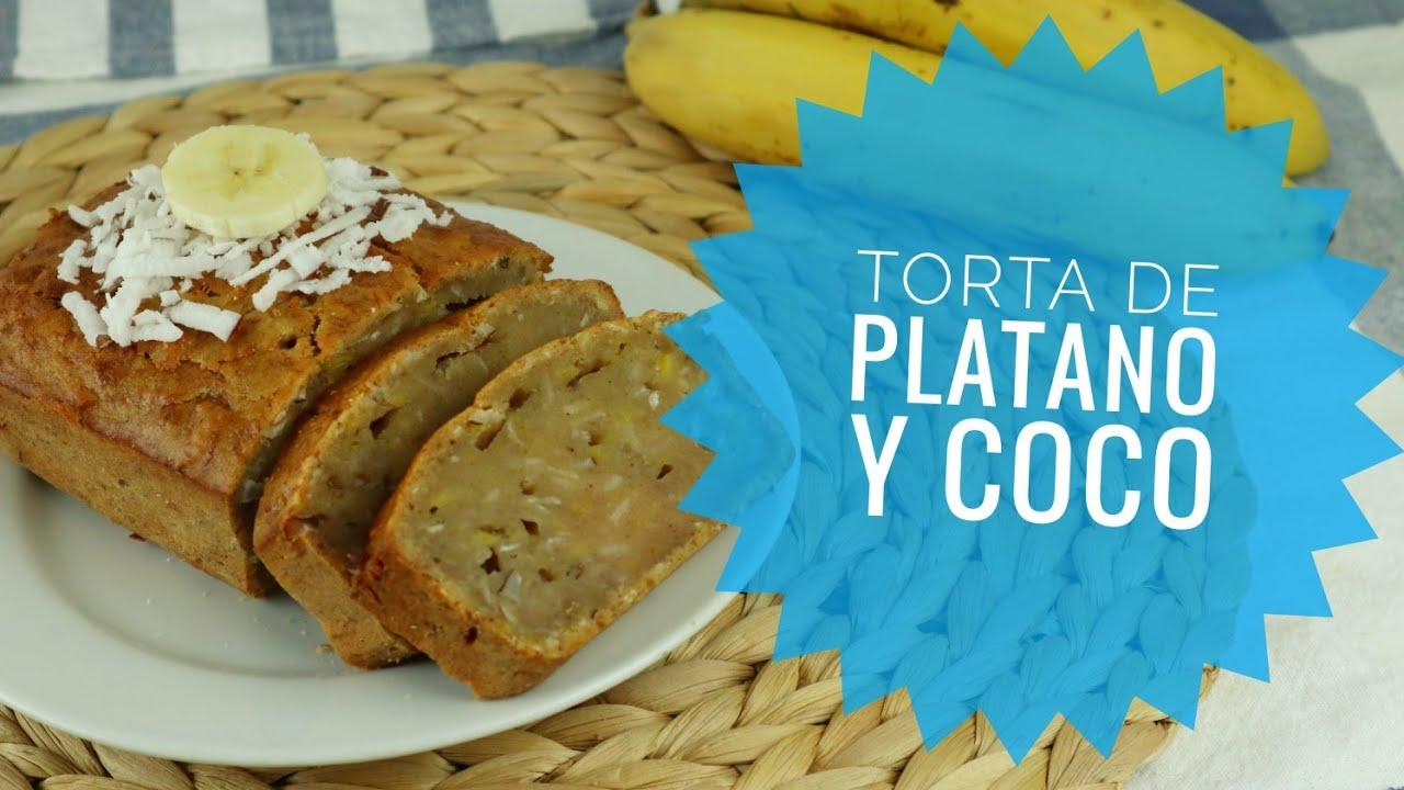 TORTA DE PLATANO Y COCO / Torta de Cambur y coco / Fácil Receta Venezolana