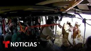 Rescatan En El Desierto A Un Inmigrante Con Una Pierna Rota | Noticias Telemundo