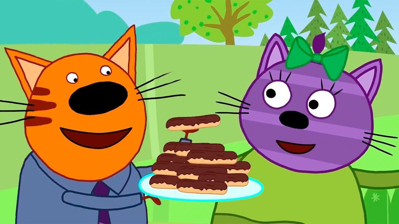 Три Кота | Серии про вкусную еду | Сборник Горчицы | Мультфильмы для детей