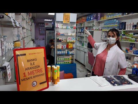 Eczanelerde 'koronavirüs' tedbirleri