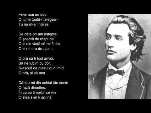 Mihai Eminescu, Pe langa plopii fara sot, lectura Maia Martin, video HD