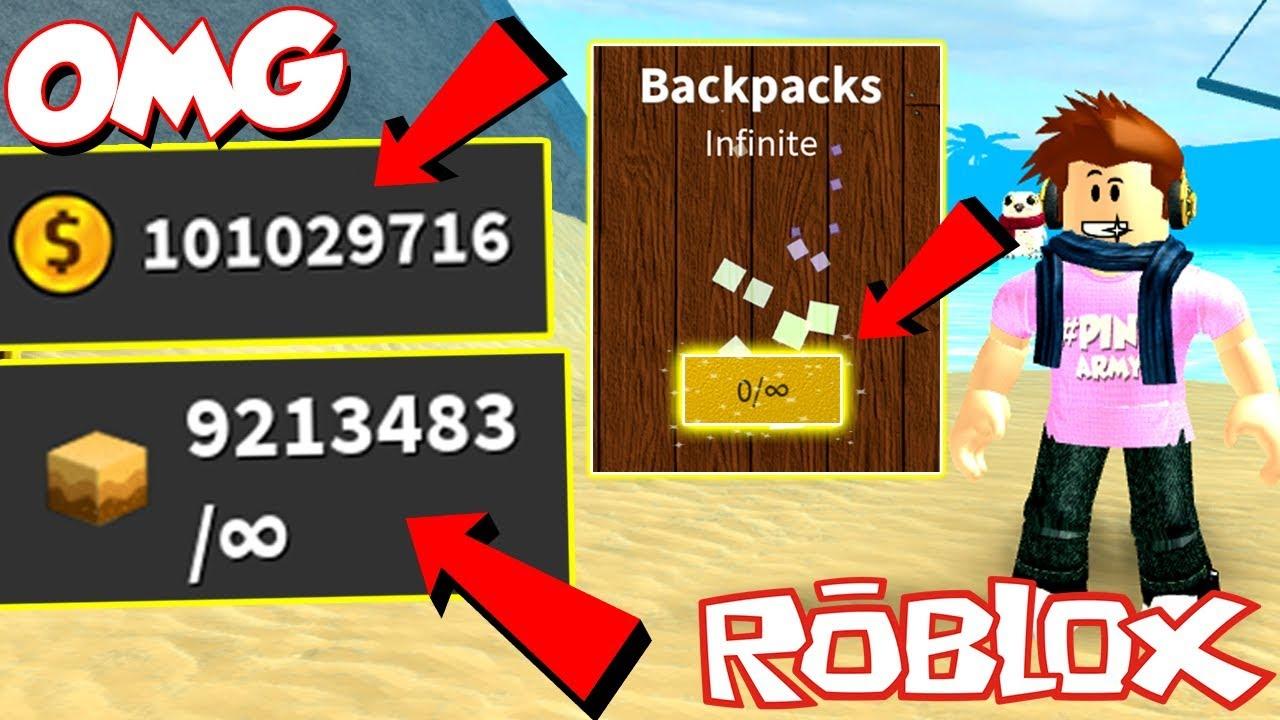 Roblox Treasure Hunt Simulator Videos - How Op Is The Legendary Infinite Backpack 100000000 In 1 Go Roblox Treasure Hunt Simulator