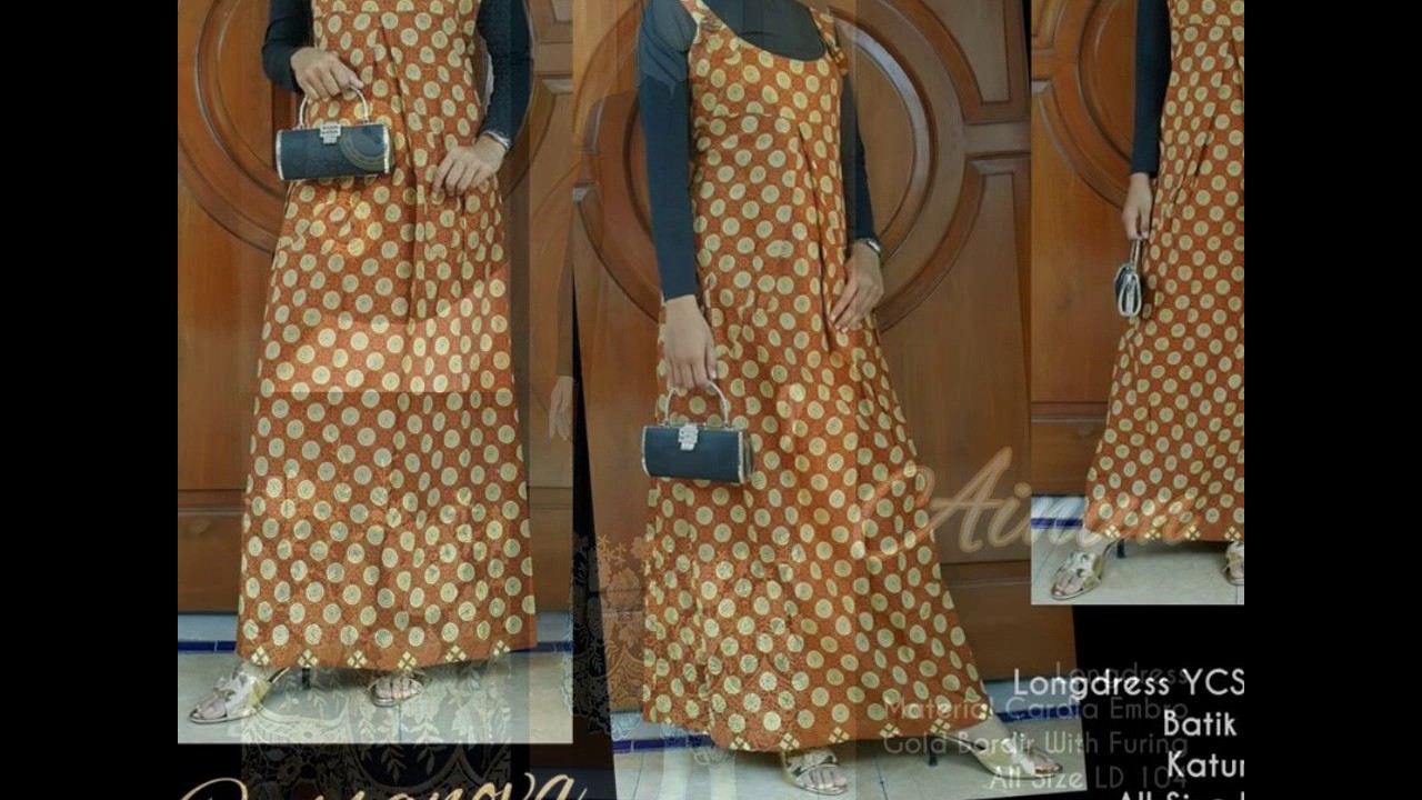 Wa 0812 2533 6662 Gamis Batik Model Payung Gamis Batik Murah