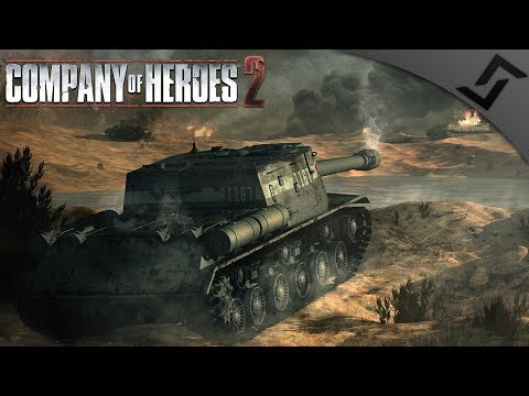 ISU-152 Blasting Panzer IV's - Company of Heroes 2 - Theatre of War: Southern Fronts COOP 2