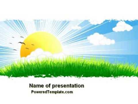 sunrise illustration powerpoint template by poweredtemplate com
