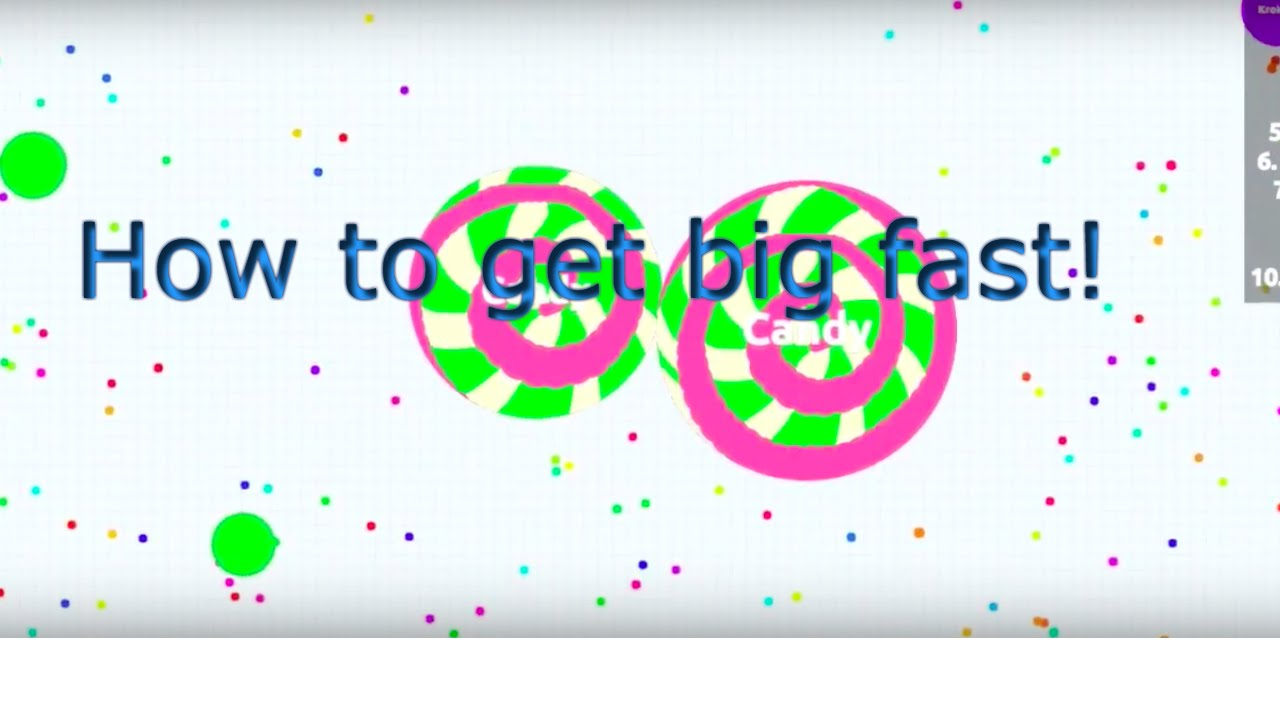 Great Agario trick & cheat    Get BIG in Agar.io by EATING