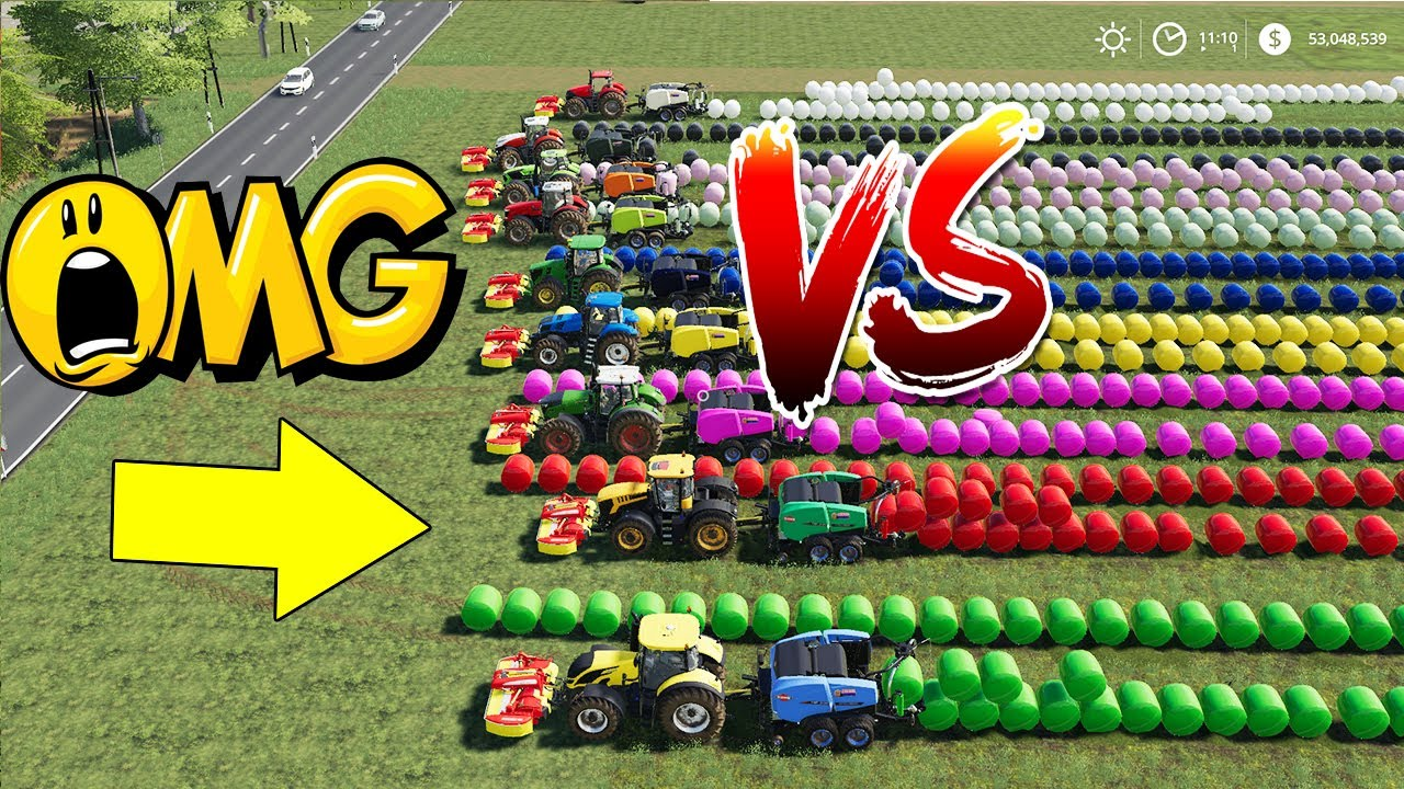 How to Make Direct Silage Bale with All Big Tractors? Very Very Silage  Bales!! Farming Simulator 19