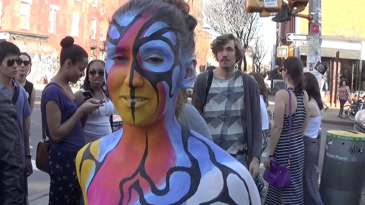 Bodypainting in Brooklyn Part I with Andy Golub -- April